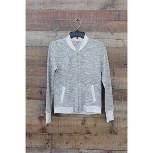 NEW Lucky Brand Jacket Cream XS Tweed $119 Zip